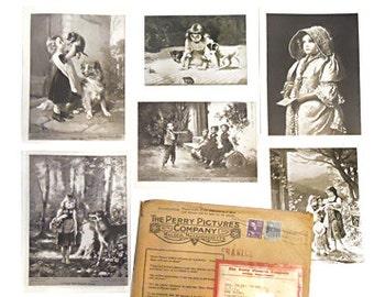 24 antique Perry Collection de photos, photos de Perry, photo d'école Vintage, Art Collection, éphémères par NewYorkMarketplace sur Etsy