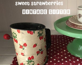 Strawberry Love - Vintage Strawberries  Sifter