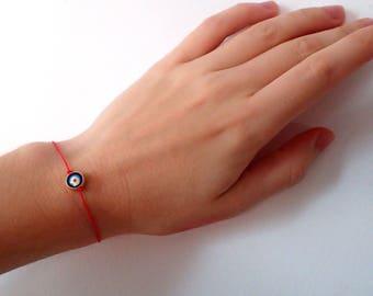 Evil Eye bracelet, red string bracelet. Protection bracelet , unisex bracelet , charm bracelet , Evil eye jewelry