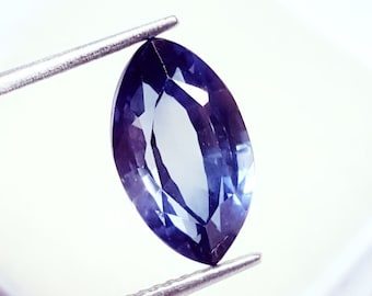 Beautiful 4.48 Ct Certified Marquise  Shape Natural Ring Size Blue Sapphire Gemstone