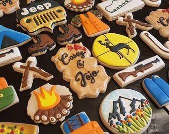 Camping Decorated Sugar Cookies