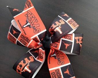 Texas Longhorns hair bow