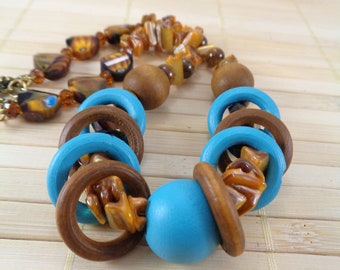 Afrocentric Jewelry,Artisan Necklace,Wooden Bead Necklace,Afrocentric Necklaces,African Necklaces,African Jewelry,Colorful Necklace