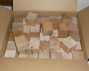 1.5 Inch - Unfinished Birch or Maple Cubes - DARK GRAIN