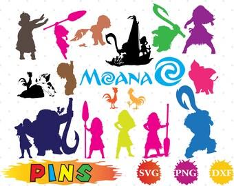 Moana svg,dxf,png/Moana clipart for Design,Print,Silhouette, Cricut