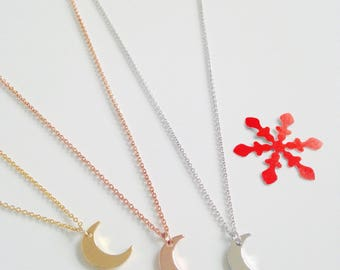 Necklace, moon, heavenly, gold plated, woman, child