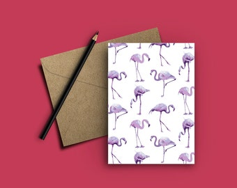 Flamingo 5x7 Greeting Card/Notecard - Stationery that's perfect for any occasion!