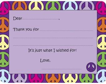 Peace Fill-in Card