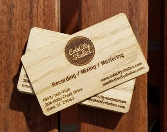 Wooden business cards idealstalist wooden business cards reheart Images