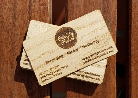 Wood business cards business cards laser engraved wood colourmoves