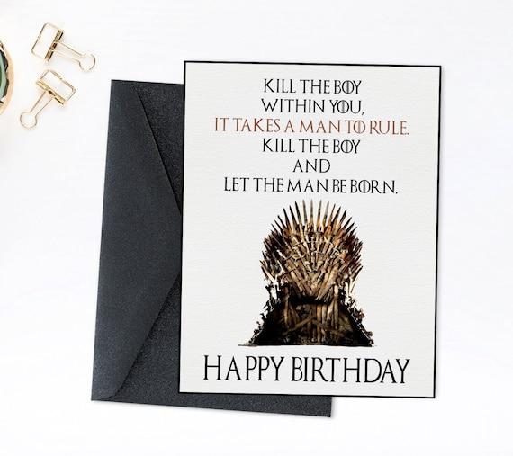 Game Of Thrones Birthday Card Printable Birthday Throne