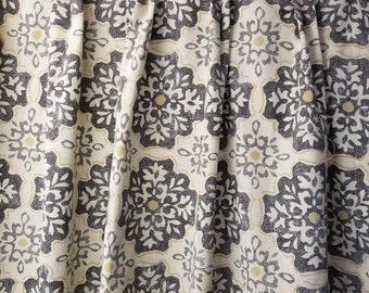 Pleated drapes, Magnolia Home LeGrange mist,