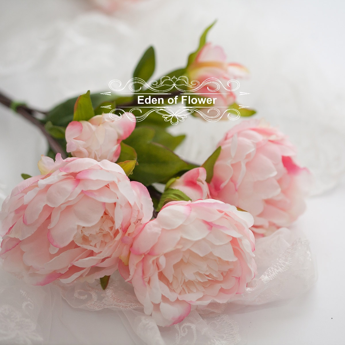 3 Pcs Pink Silk Peony Flowers for Wedding Bridal Bouquets, Home ...