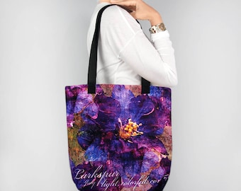 Birthday Blossoms July Birth Month Flower Larkspur Tote Bag