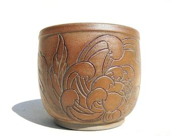 white stoneware carved Yunomi teabowl japanese tattoo inspiration
