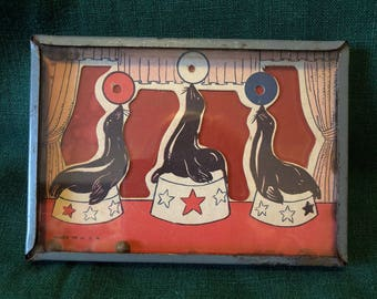 Dexterity Game with Three Circus Seals