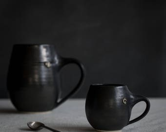 Espresso Mug in Metallic Black