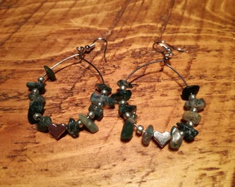 Crystal Earrings - Dark Jade