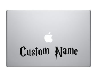 Custom Name Decal, Harry Potter Font MacBook Sticker, Personalized Sticker, Quote Laptop Decal, Potter Decal, Geekery Sticker, Car Decal