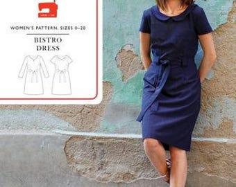 Liesl & Co PATTERN - Bistro Dress - Sizes 0-20