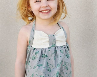 Sweetheart Halter: Girls Halter Top PDF Pattern, Baby & Toddler Halter Top PDF Sewing Pattern