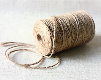 2 mm of Natural Jute Twine = 1 spool = 110 yards = 100 Meters Natural Color Eco Friendly - 2 strand