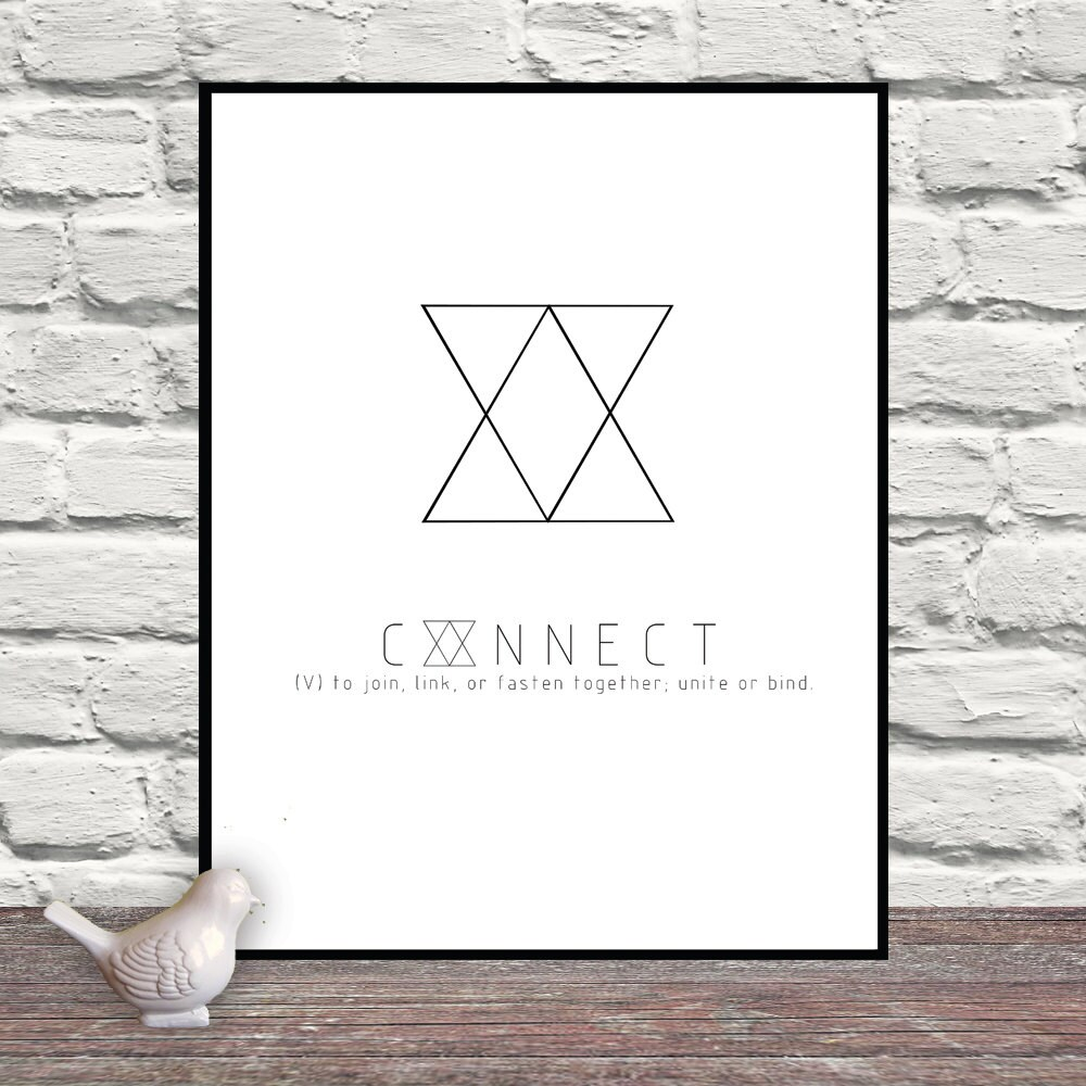 Connect triangles symbol art triangle art simplicity zoom buycottarizona