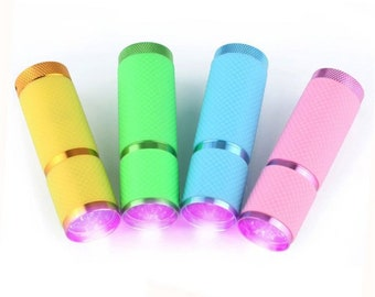UV Light Flashlight handheld LED Resin Curing Lamp Torch high quality UV Led light for Gel Polish and resin crafts Fashionable Pastel Colors