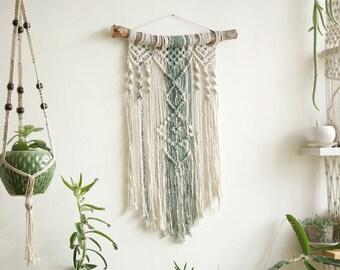 Wall tapestry, Macrame Tapestry, Macrame Wall Hanging, Modern Macrame, Dip Dye macrame, Wall Art, Boho Wall Hanging, boho art, green decor
