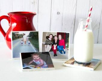 Personalized coasters, photo coasters, custom coasters, Mothers Day gifts for mom, birthday gifts, resin coasters, family photo coasters