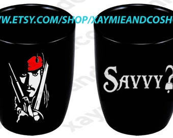 "12 oz Pirates of the Caribbean ""Savvy?"" mug"