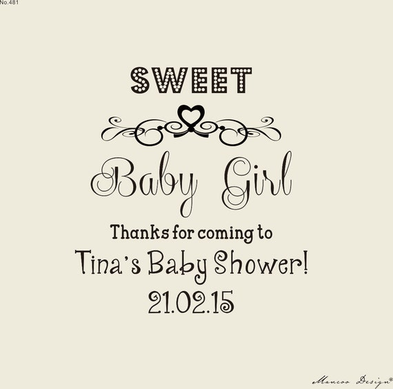 Sweet Baby Girl Or Boy Custom Stamps Baby Shower Stamp