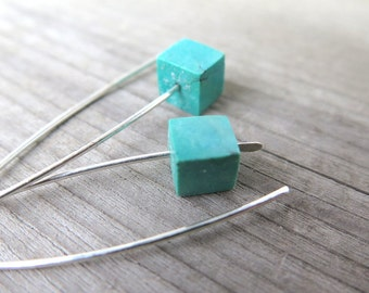 turquoise jewelry. stone earrings. silver earings. birthstone jewelry. splurge.