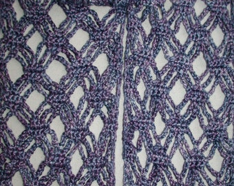 Pattern - Stacked Diamonds Crochet Scarf