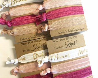 Will You be my Maid of Honor Gift - Maid of Honor Hair Tie Favors /Maid of Honor Proposal Gift for MOH - Tie the Knot Favors