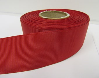 Grosgrain Ribbon 3mm 6mm 10mm 16mm 22mm 38mm 50mm Rolls, Ruby Dark Red, 2, 10, 20 or 50 metres, Ribbed Double sided,
