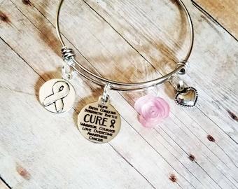 Cancer awareness charm bracelets, cancer jewerly,personalized cancer bracelets breast cancer bracelets, charm bracelets, awareness jewerly
