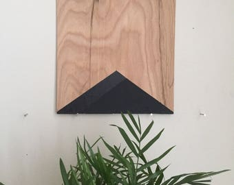 "Black Triangle 021, 8""x8"" painting on oak plywood"