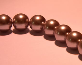 20-10 mm gray - Pearl - iridescent glass beads - way PF3 18 cultured pearl