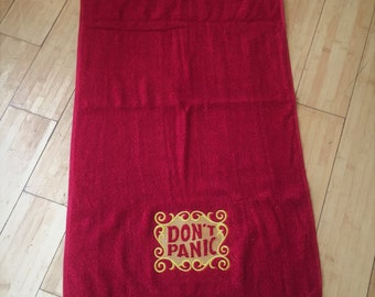 Hitchhikers Guide to the Galaxy Towel, HHGTTG Don't Panic Towel