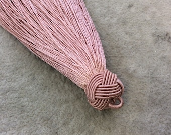 """4"""" Knot Capped Antique Dusty Rose Silk/Polyester Thread Tassel - Measuring 17mm x 110mm, Approx. - 30+ Colors Available, See Related Link!"""