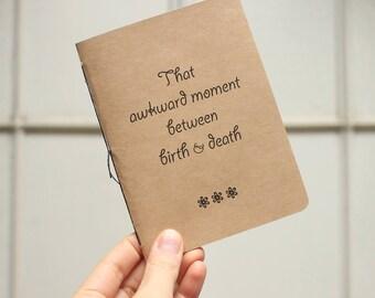 Unmotivational Notebook, Soft Cover Journal, Awkward Journal, Graph Paper Notebook