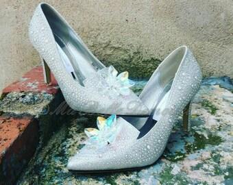 Cinderella Crystal Wedding Shoe's, Bridal Shoes, Crystal Bridal Shoes, Strass Bridal Pumps, Wedding Shoes,Strass Wedding Shoes, Strass Pumps