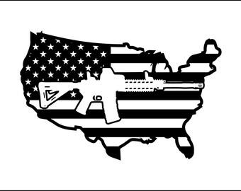 2nd Amendment Vinyl Decal Gun Decal for Cars Windows Metal