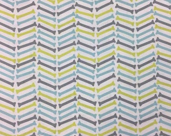 Dog Gone It!- Herring Bone White -Camelot Fabrics- Cotton Fabric-Quilt- Apparel-WindyRobinCotton- *Sold in Half Yard.