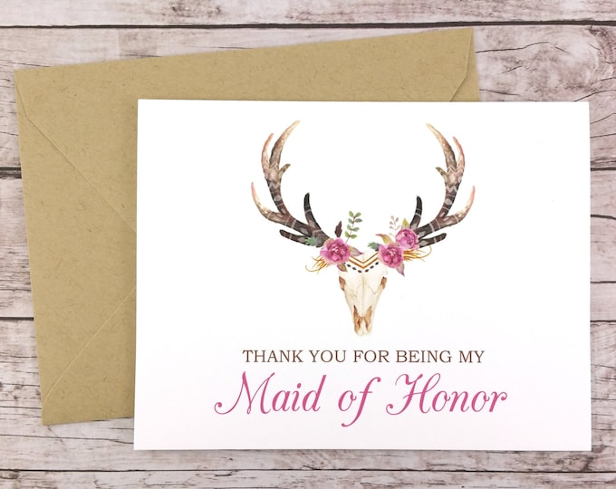 Thank You For Being My Maid of Honor Card (FPS0044)
