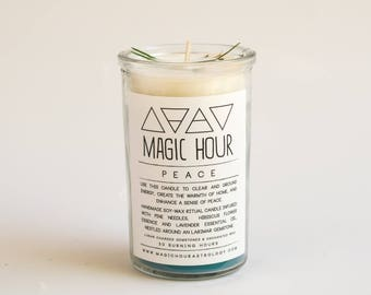 Peace Handmade Ritual Candle - Small
