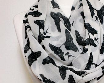 Boston Terrier Infinity scarf, Loop scarf, Circle scarf, scarves, shawls, spring - fall - winter - summer fashion