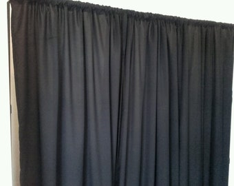"BLACK COTTON TWILL Photographic/ stage backdrop each drape w/60 x h/100"" app"
