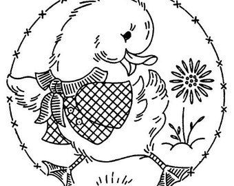 """Clear stamp (2.5"""" x 2.5"""") FLONZ clingy acrylic stamp // Cute Duckling"""
